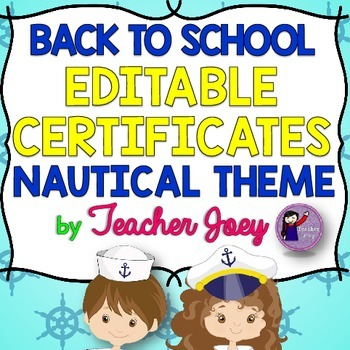 Nautical Theme Editable Certificates