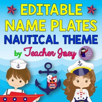 Nautical Theme Name Plates