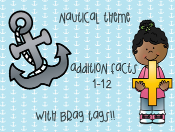 Nautical Theme Addition Facts & Brag Tags