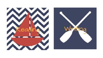Nautical Theme Agenda Tags