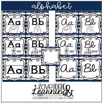 Nautical Theme Alphabet