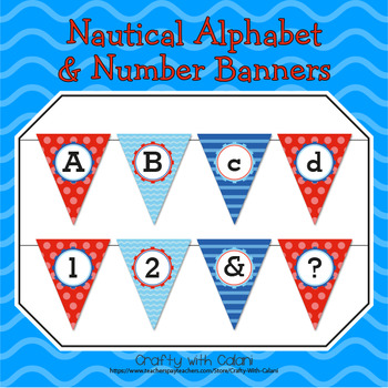 Nautical Theme Alphabet & Numbers Classroom Banner Decoration