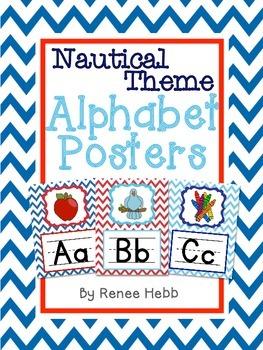 Nautical Theme Alphabet Posters