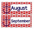 Nautical Theme Anchor Months