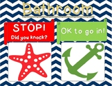 Nautical Theme Bathroom Sign