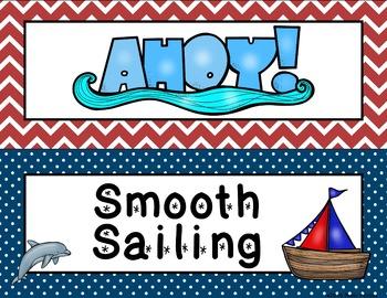 Nautical Theme - Behavior Chart - Classroom Decor