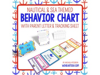 Nautical Theme Behavior Chart {Editable}