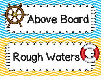 Nautical Behavior Clip Chart -Chevron