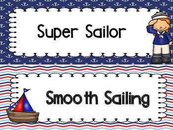 Nautical Behavior Clip Chart Version #2