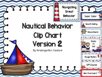 Nautical Theme Behavior Clip Chart Version #2
