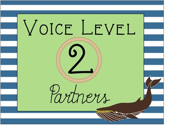 Nautical Theme Behavior Clip Chart and Voice Level Posters