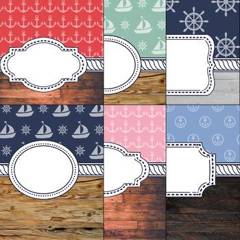 Nautical Theme Binder Covers 2