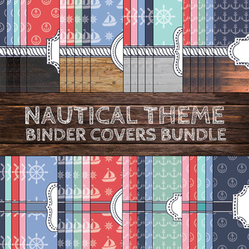 Nautical Theme Binder Covers Bundle