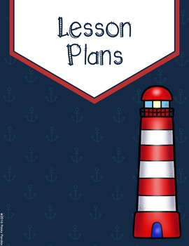 Nautical Theme - Binder Covers and Spines