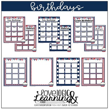 Nautical Theme Birthday Posters