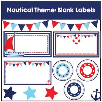 Nautical Theme Blank Labels
