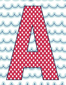 Nautical Theme CAFE board letters