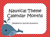 Nautical Theme Calendar Months