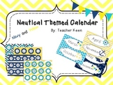 Nautical Theme Calendar (Navy and Yellow)