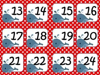 Nautical Theme Calendar Numbers