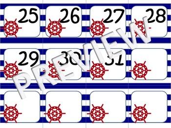 Nautical Theme Calendar Numbers (Multiple Sets)
