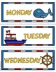Nautical Theme - Calendar Set - Classroom Decor