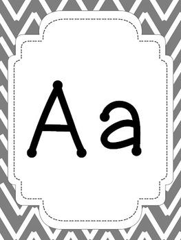 Nautical Theme Chevron Alphabet