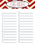 Nautical Theme Chevron Sub Folder Packet