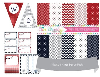 Nautical Theme Class Decor Pack