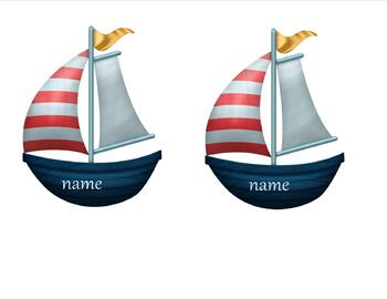 Nautical Theme Class Name tags