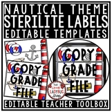 Nautical Theme Classroom- Mailbox Labels 3 Sterlite Drawer Labels Editable