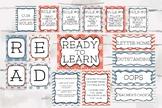 Nautical Theme Classroom Bundle Pack, Teacher Decor, Classroom Theme
