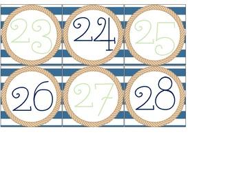 Nautical Theme Classroom Calendar