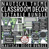 Nautical Theme Classroom Decor - Editable