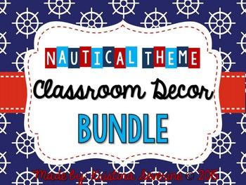 Nautical Theme Classroom Decor BUNDLE