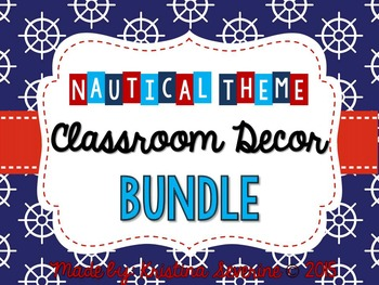 Nautical Theme Classroom Decor BUNDLE