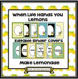 Binder Covers Editable - Make Lemonade