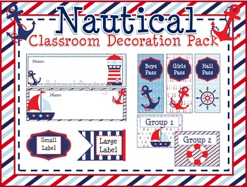 Nautical Theme Classroom Decoration Pack