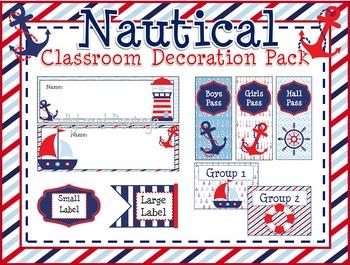 Nautical Theme Classroom Decoration Pack