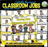 EDITABLE Classroom Jobs with Pictures {Honey Bee Themed}