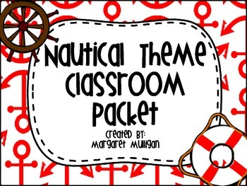Nautical Theme Classroom Packet