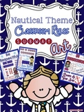 Nautical Theme Classroom Rules Subway Art