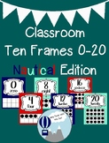 Nautical Theme Classroom Ten Frames Posters 0-20