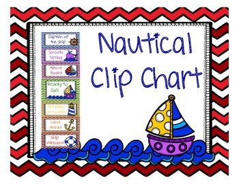 Nautical Theme Clip Chart