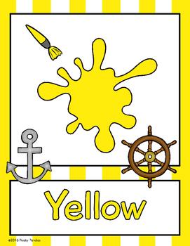 Nautical Theme - Color Posters - Classroom Decor