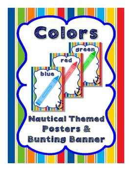 Nautical Theme Colors Posters and Bunting Banner