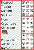 Nautical Theme Custom Student Stickers