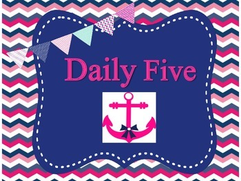 Nautical Theme Daily Five Posters