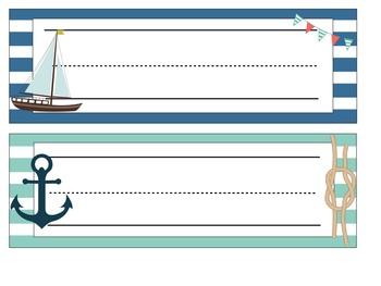 Nautical Theme Desk Name Plates