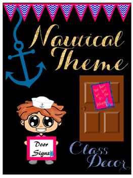 Nautical Theme Door Signs